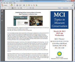 MCI lecture announcement image